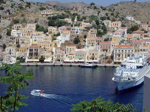 Greece: Gialos Town on Symi Island