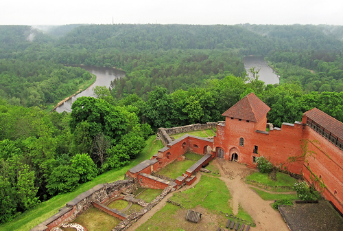 Latvia: Medieval Castle Ruins by a River