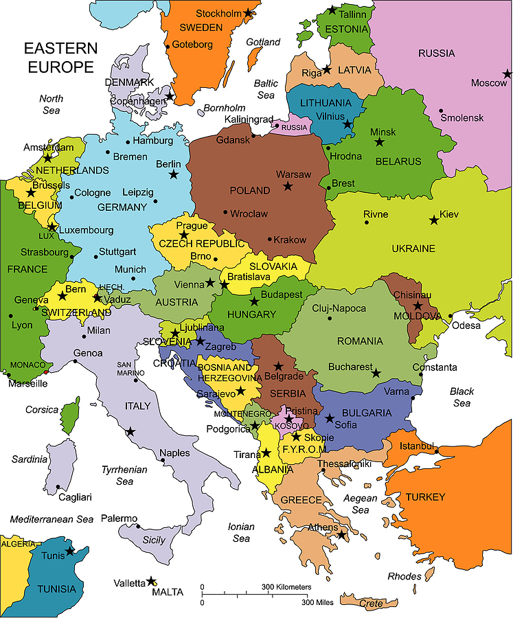 Large eastern europe map gumiabroncs