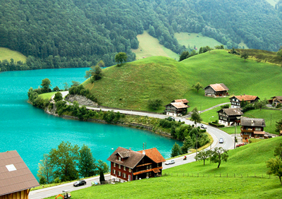 Switzerland: Village on Lake Brienz